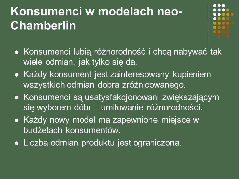 Konsumenci w modelach neo-Chamberlin
