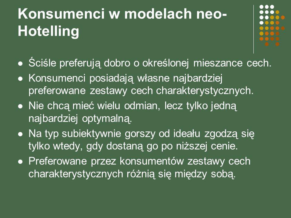 Konsumenci w modelach neo-Hotelling