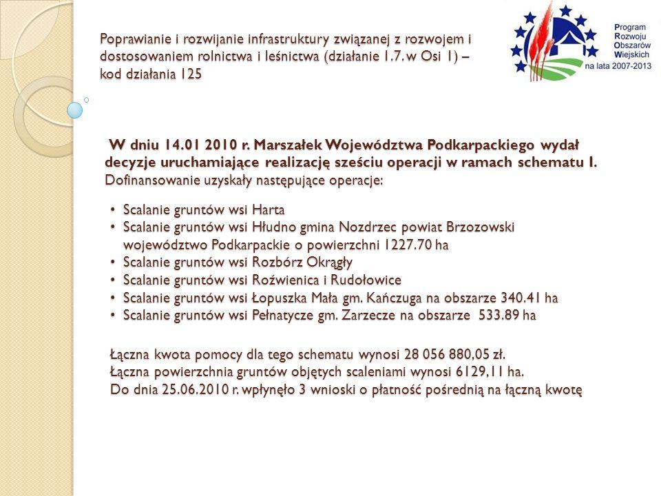 Poprawianie i rozwijanie infrastruktury związanej z rozwojem i dostosowaniem rolnictwa i leśnictwa (działanie 1.7. w Osi 1) – kod działania 125