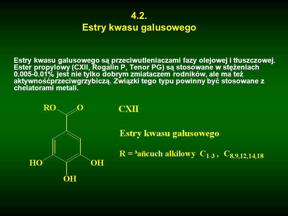 Estry kwasu galusowego