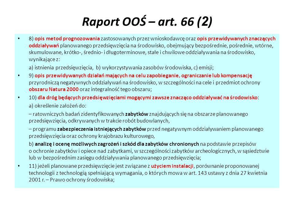 Raport OOŚ – art. 66 (2)