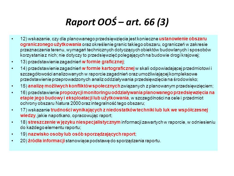 Raport OOŚ – art. 66 (3)