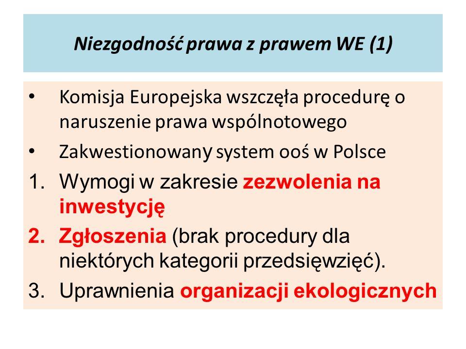 Niezgodność prawa z prawem WE (1)