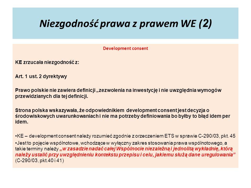 Niezgodność prawa z prawem WE (2)