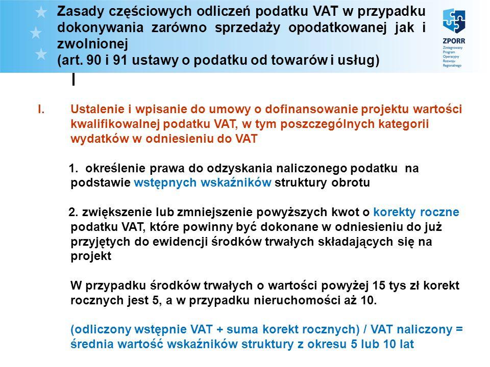 (art. 90 i 91 ustawy o podatku od towarów i usług)