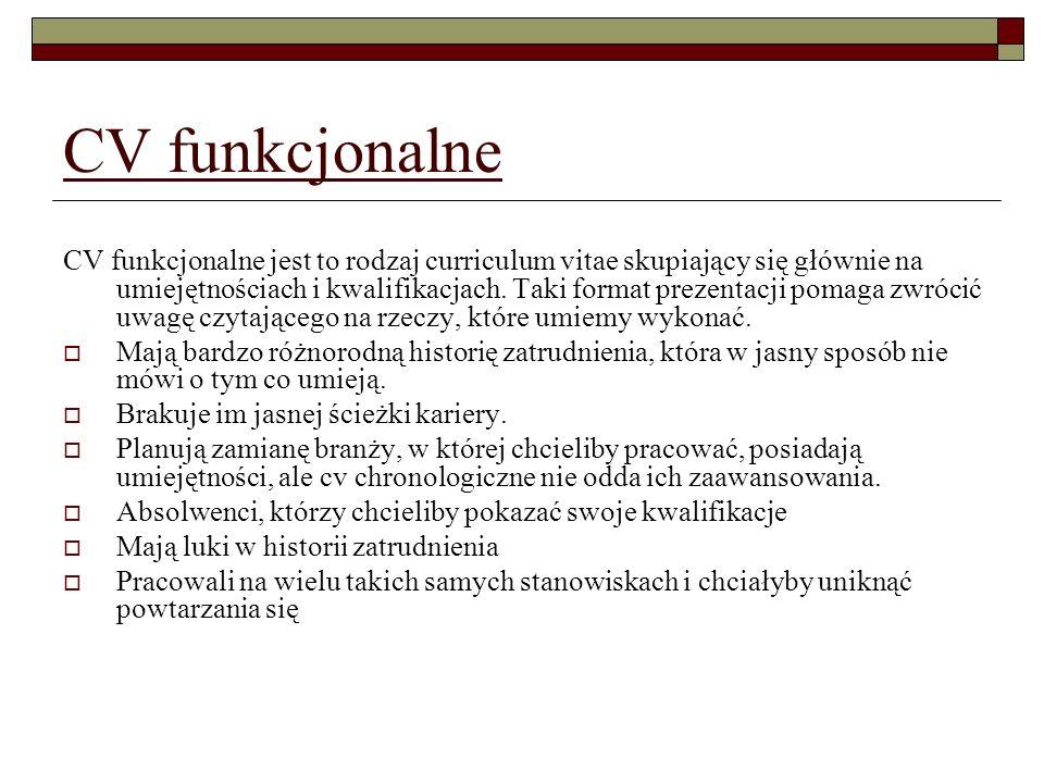 CV funkcjonalne