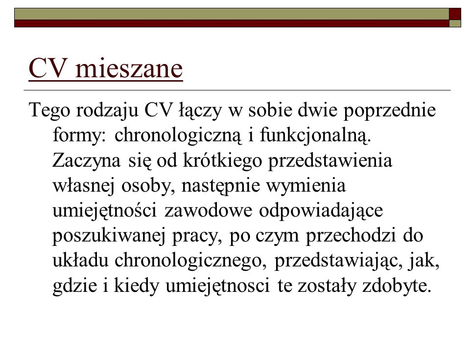 CV mieszane