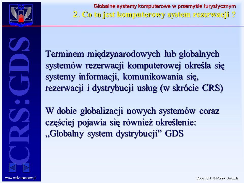 Globalne systemy komputerowe w przemyśle turystycznym 2