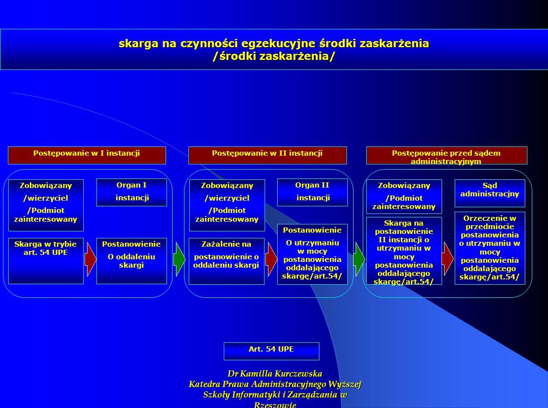 skarga na czynności egzekucyjne środki zaskarżenia /środki zaskarżenia/
