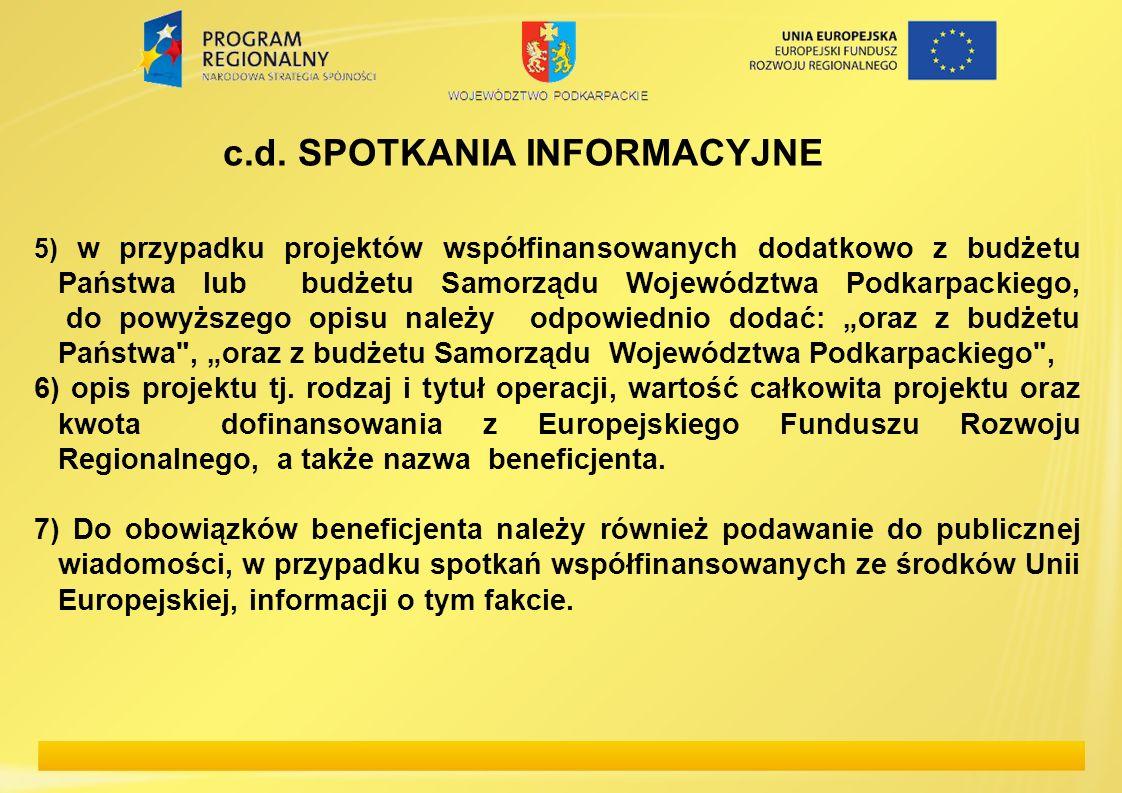 c.d. SPOTKANIA INFORMACYJNE