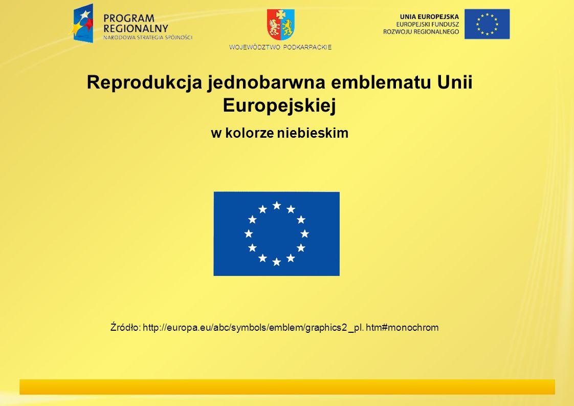 Reprodukcja jednobarwna emblematu Unii Europejskiej