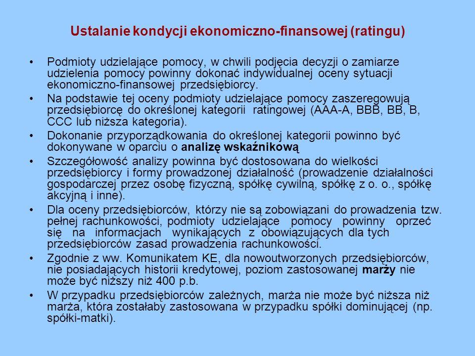 Ustalanie kondycji ekonomiczno-finansowej (ratingu)