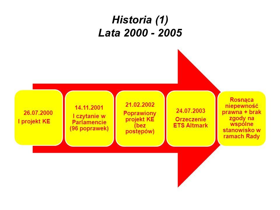 Historia (1) Lata 2000 - 2005 I projekt KE 26.07.2000