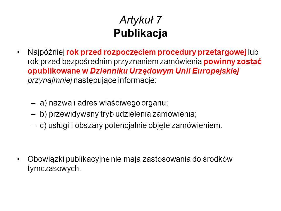 Artykuł 7 Publikacja