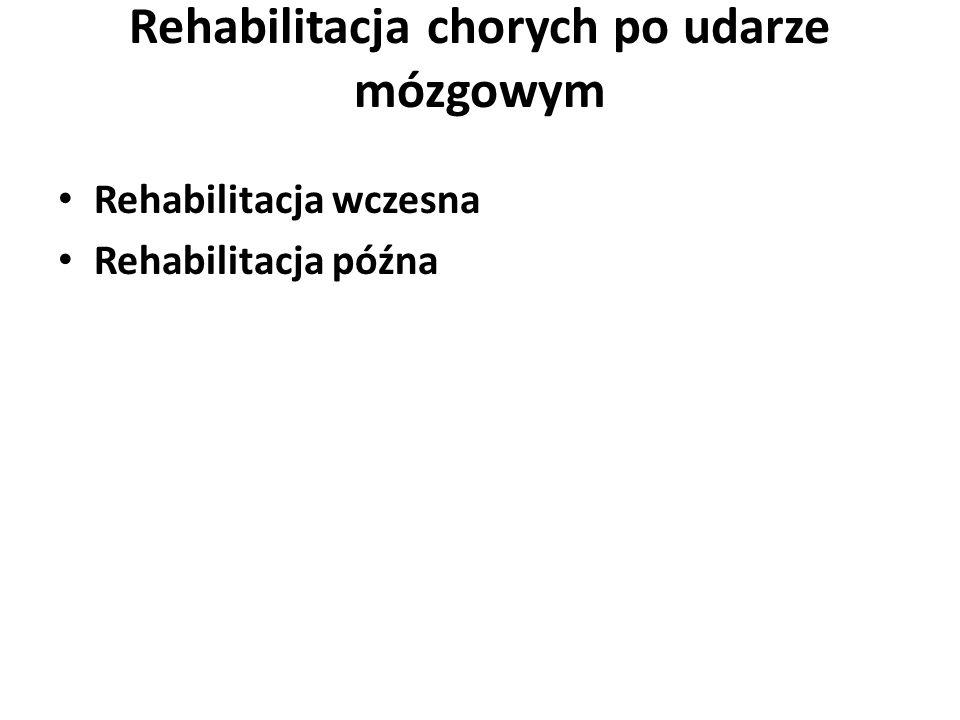 Rehabilitacja chorych po udarze mózgowym