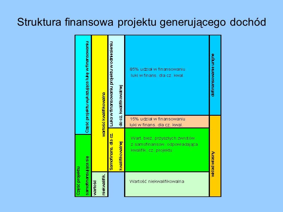 Struktura finansowa projektu generującego dochód