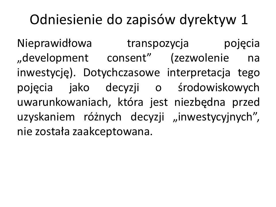 Odniesienie do zapisów dyrektyw 1