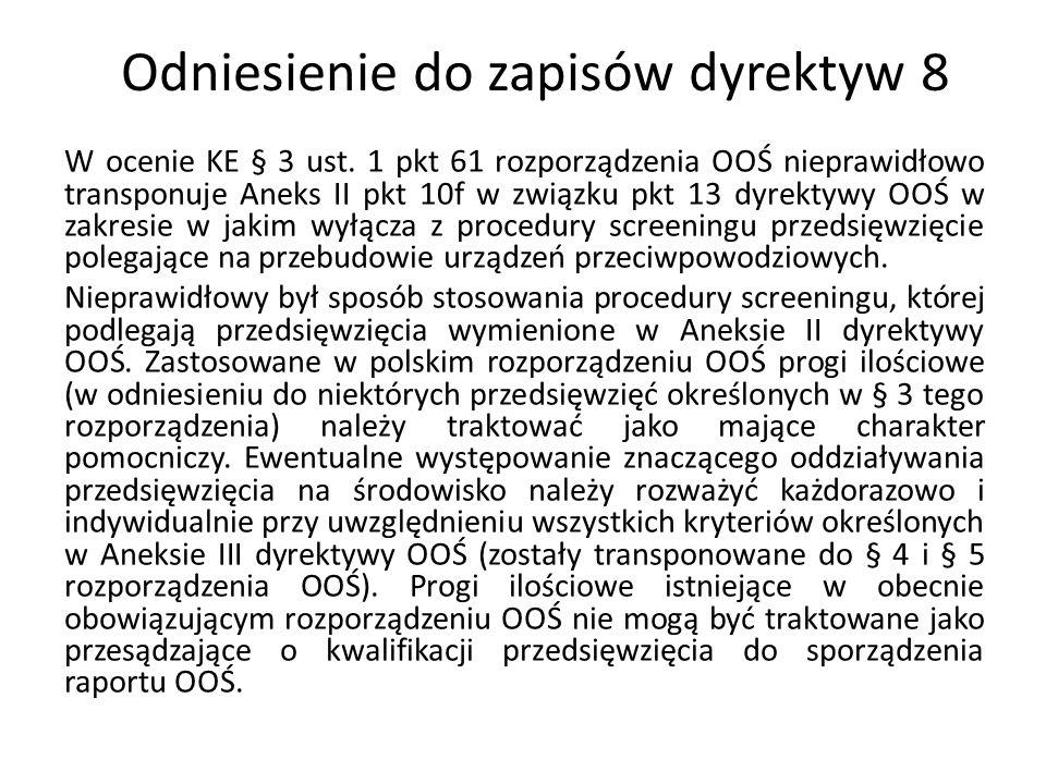 Odniesienie do zapisów dyrektyw 8