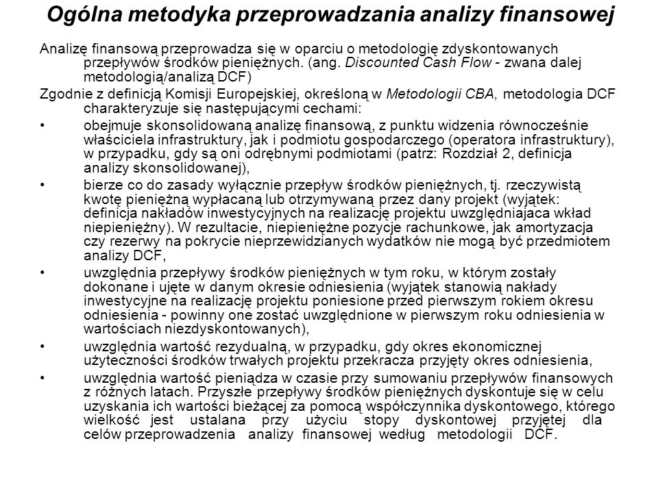 Ogólna metodyka przeprowadzania analizy finansowej