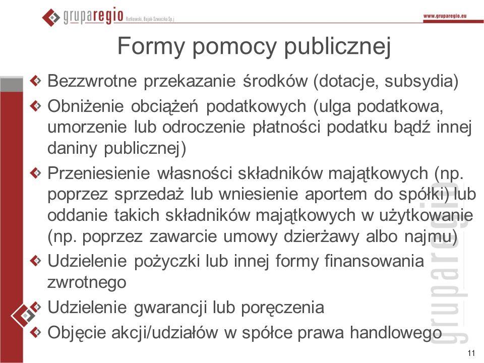 Formy pomocy publicznej