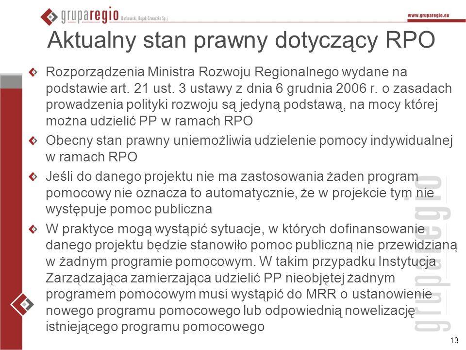 Aktualny stan prawny dotyczący RPO