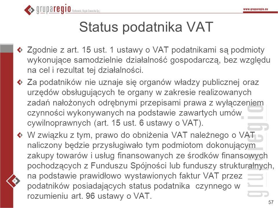 Status podatnika VAT