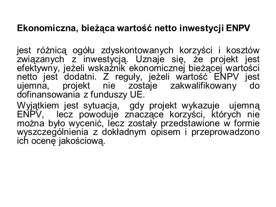 Ekonomiczna, bieżąca wartość netto inwestycji ENPV