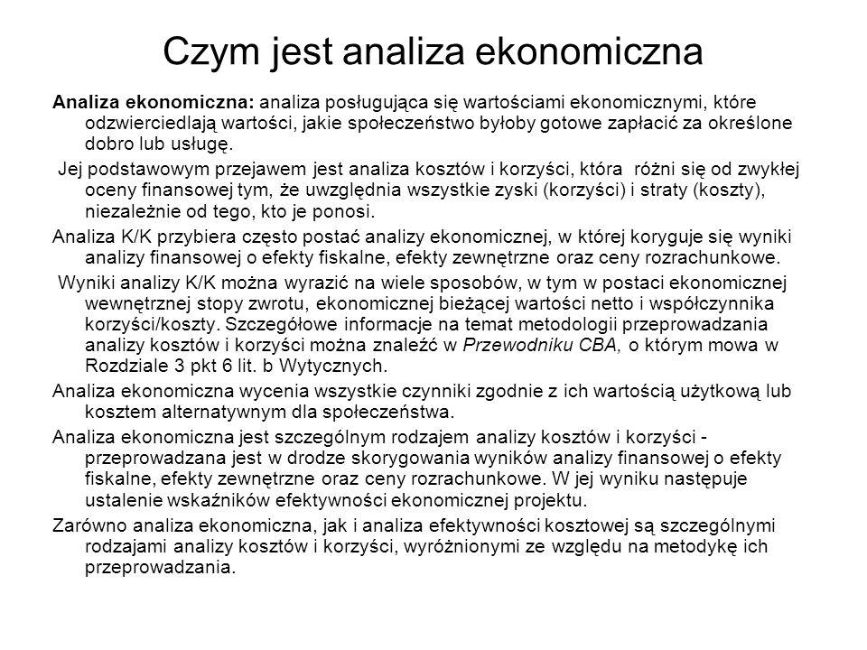 Czym jest analiza ekonomiczna