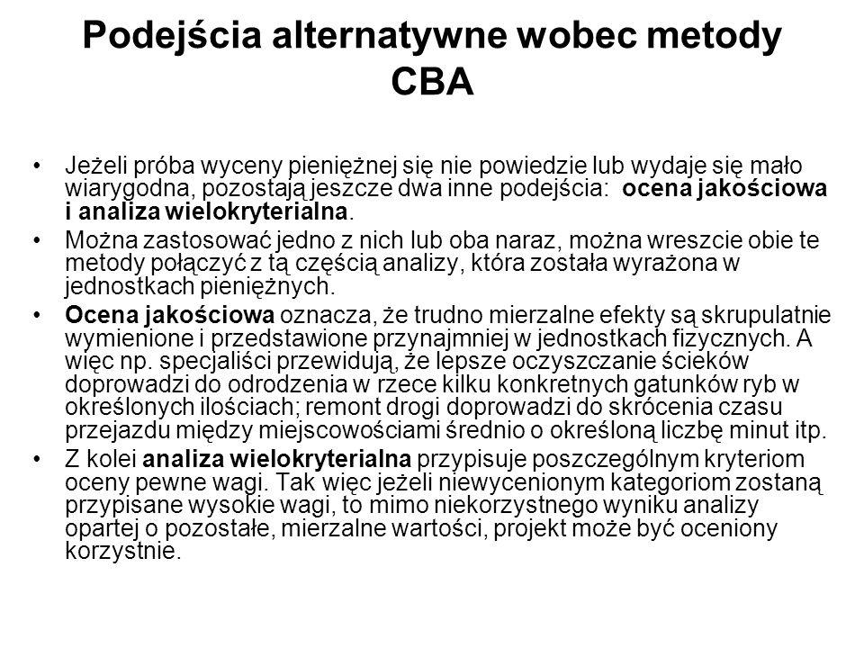 Podejścia alternatywne wobec metody CBA