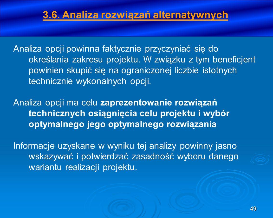3.6. Analiza rozwiązań alternatywnych
