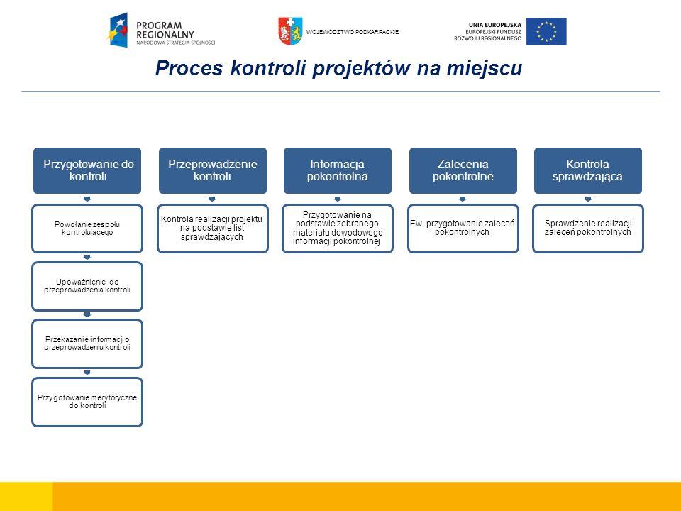 Proces kontroli projektów na miejscu