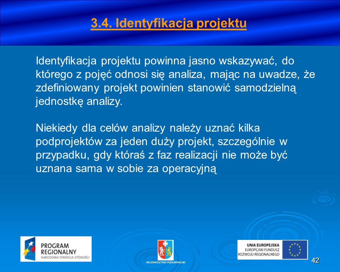 3.4. Identyfikacja projektu