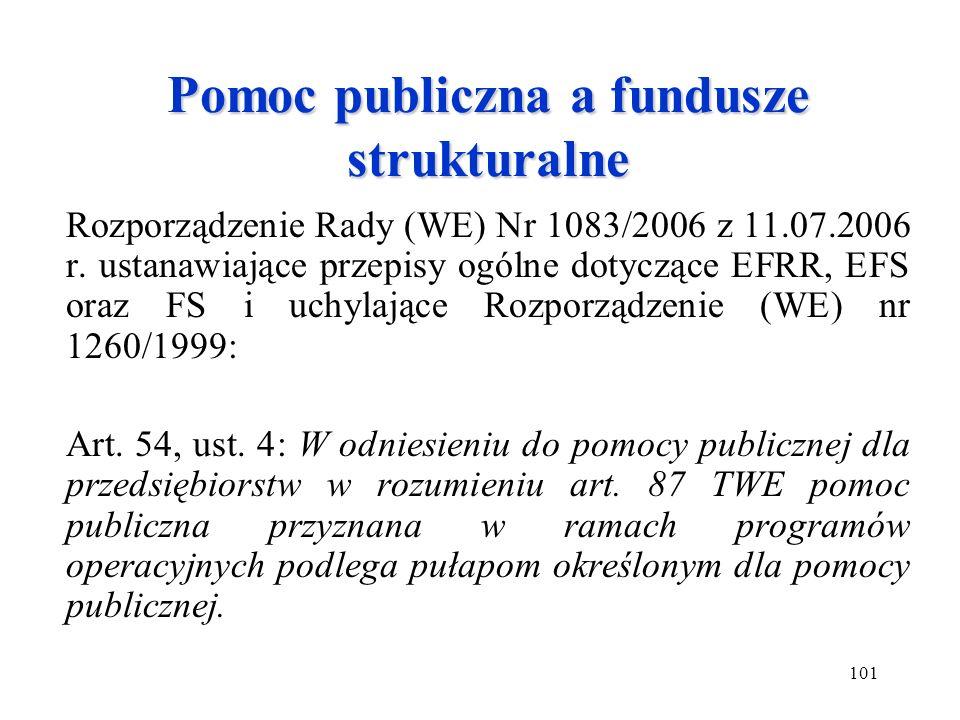 Pomoc publiczna a fundusze strukturalne