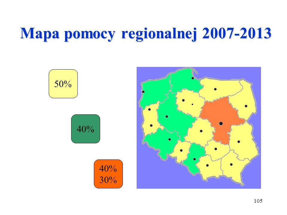 Mapa pomocy regionalnej 2007-2013
