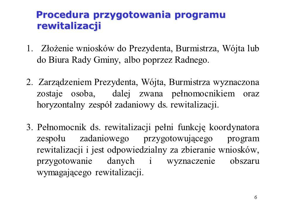 Procedura przygotowania programu rewitalizacji 1