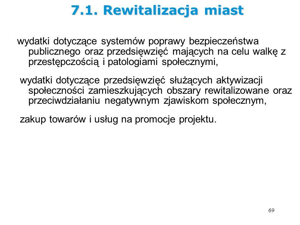 7.1. Rewitalizacja miast