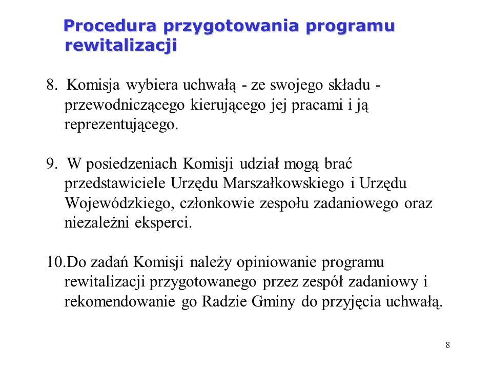Procedura przygotowania programu rewitalizacji 8