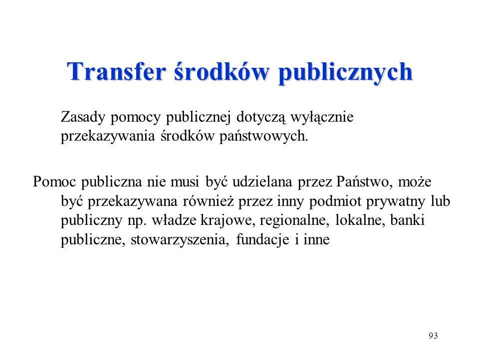 Transfer środków publicznych