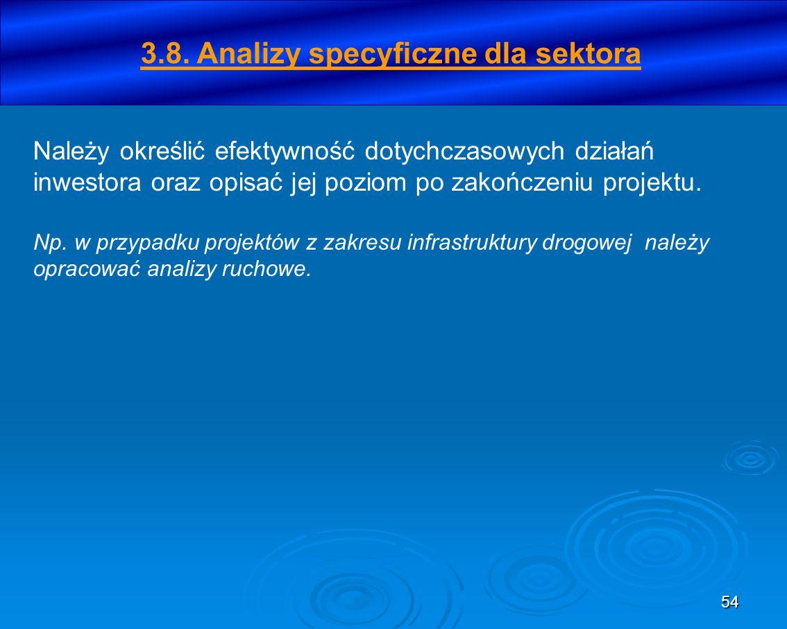 3.8. Analizy specyficzne dla sektora