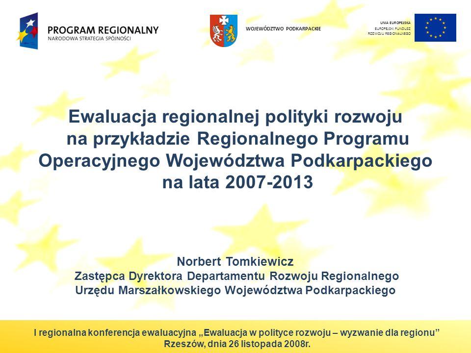 Ewaluacja regionalnej polityki rozwoju
