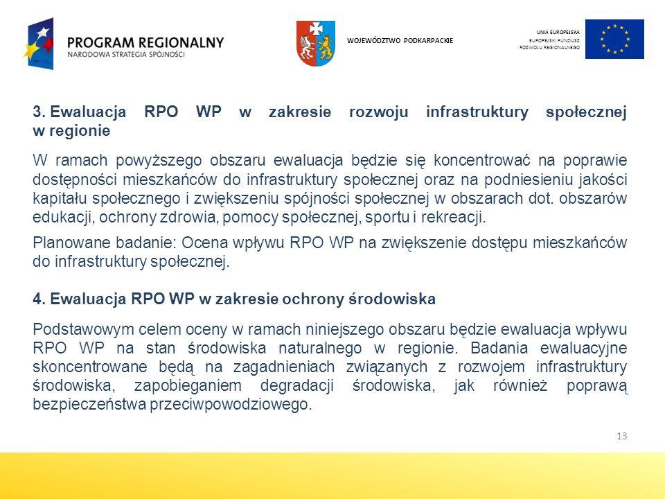 Ewaluacja RPO WP w zakresie ochrony środowiska