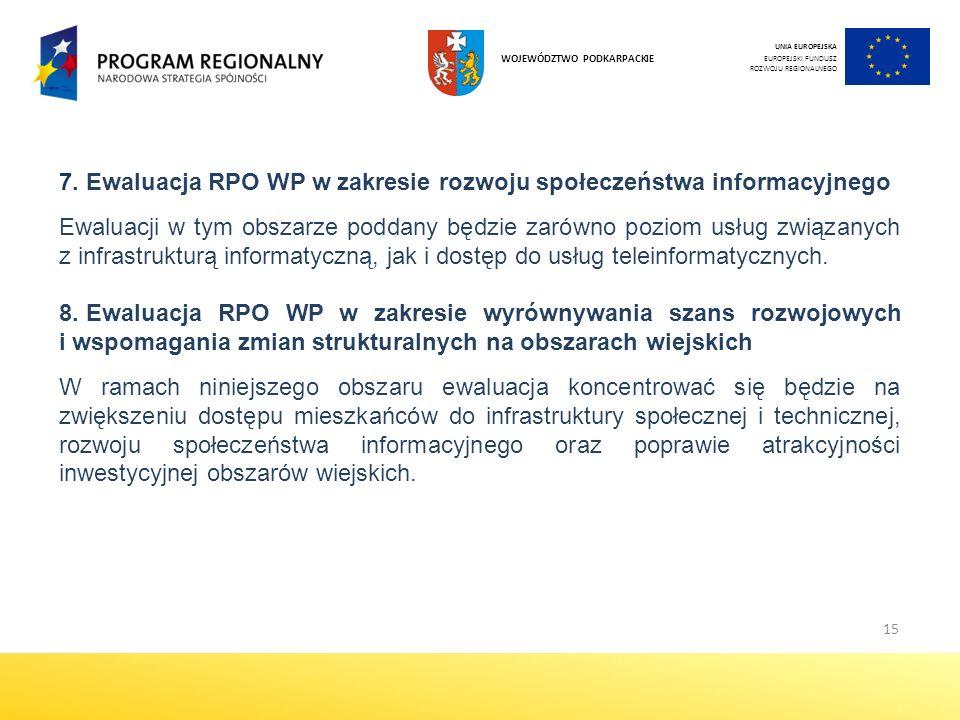 Ewaluacja RPO WP w zakresie rozwoju społeczeństwa informacyjnego