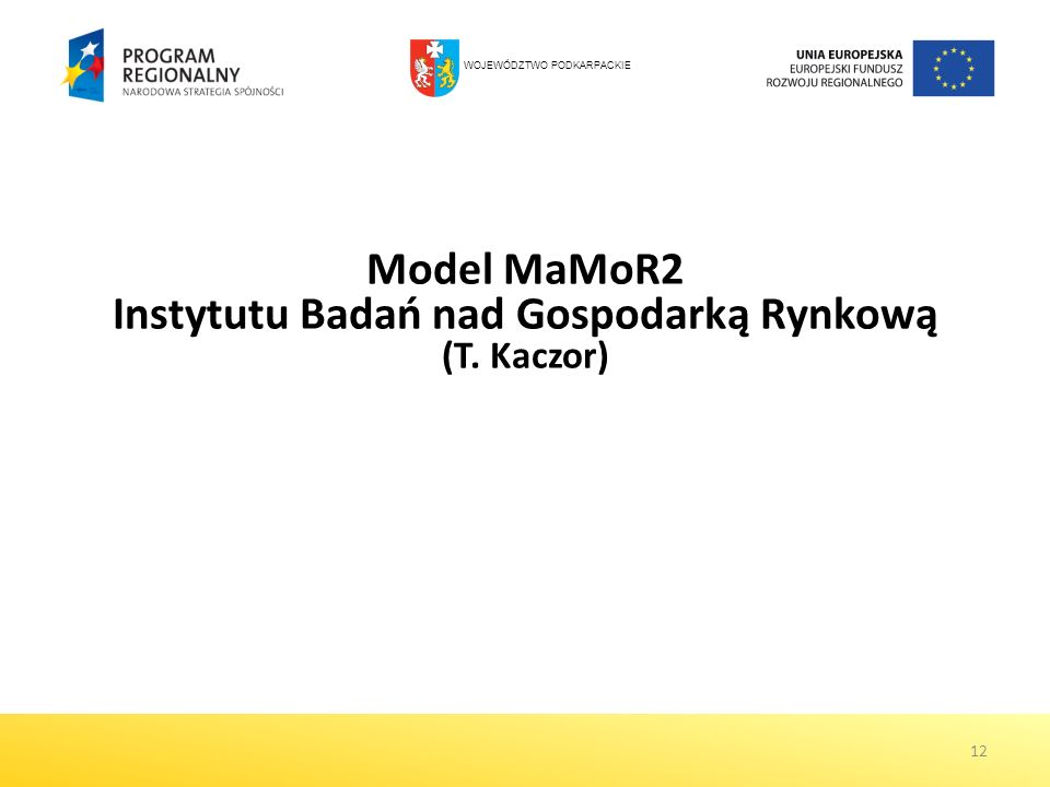 Model MaMoR2 Instytutu Badań nad Gospodarką Rynkową (T. Kaczor)