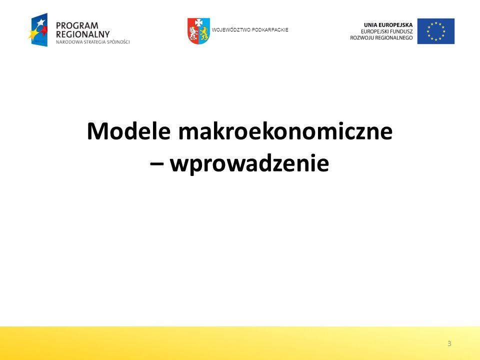 Modele makroekonomiczne – wprowadzenie