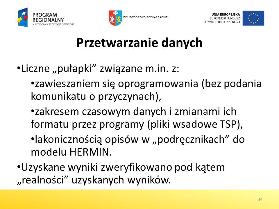 """Przetwarzanie danych Liczne """"pułapki związane m.in. z:"""