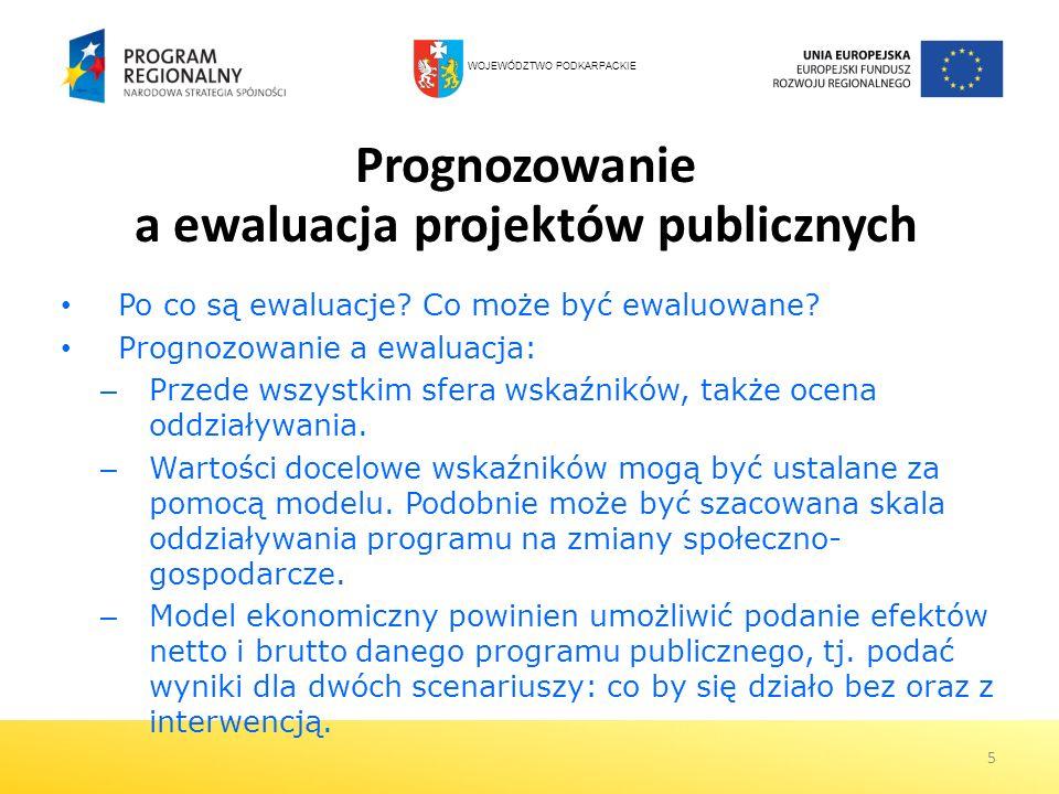 Prognozowanie a ewaluacja projektów publicznych