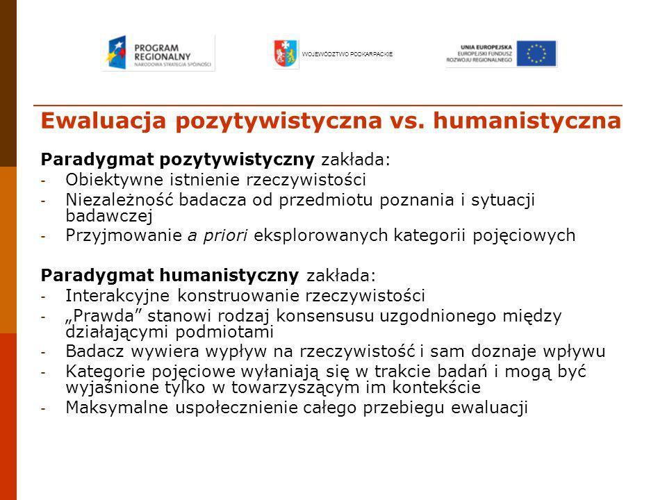 Ewaluacja pozytywistyczna vs. humanistyczna