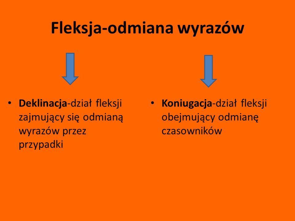 Fleksja-odmiana wyrazów