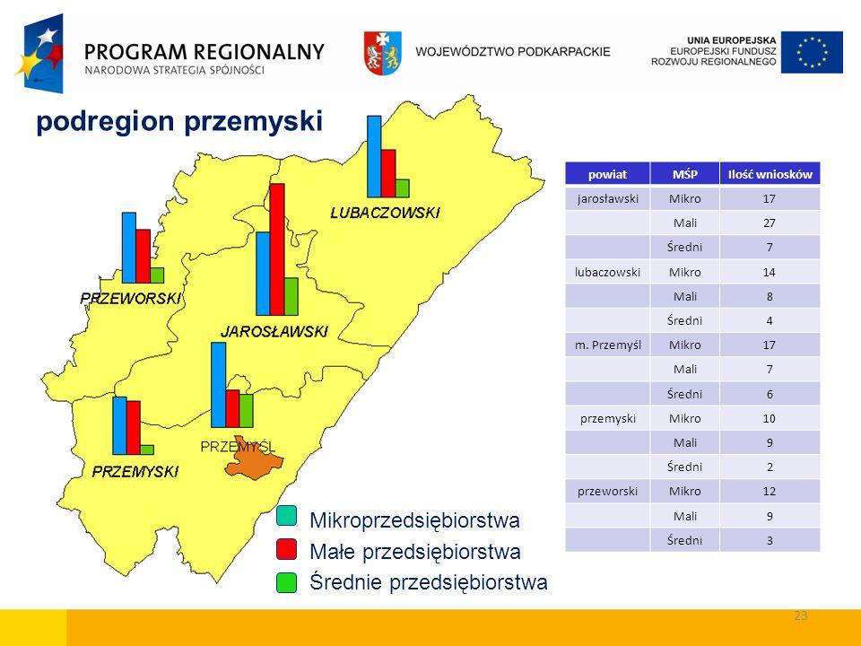 podregion przemyski Mikroprzedsiębiorstwa Małe przedsiębiorstwa