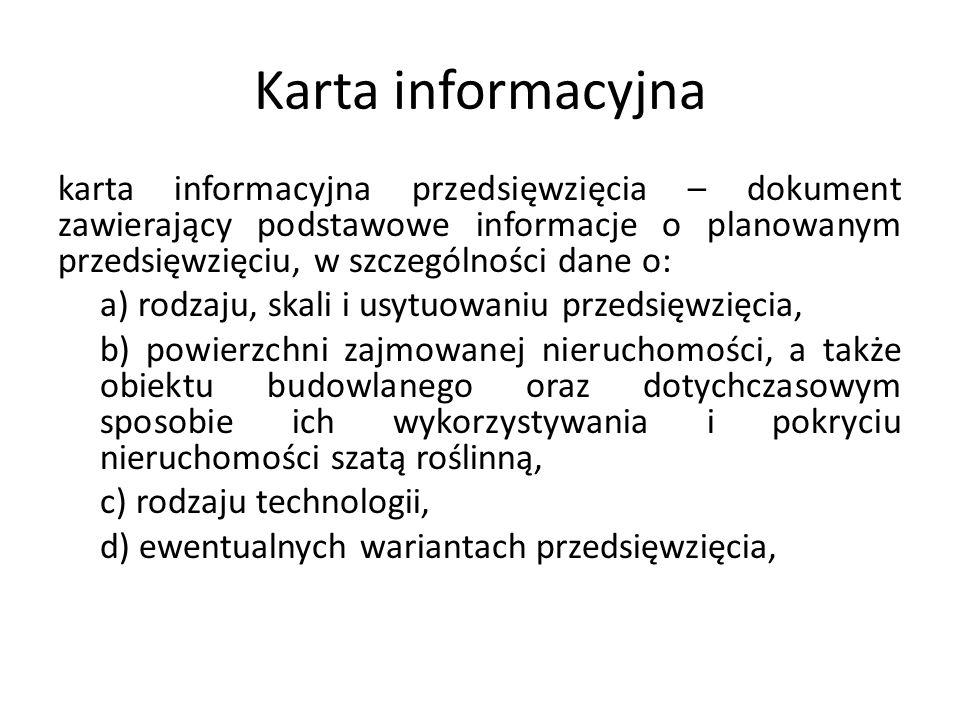 Karta informacyjna